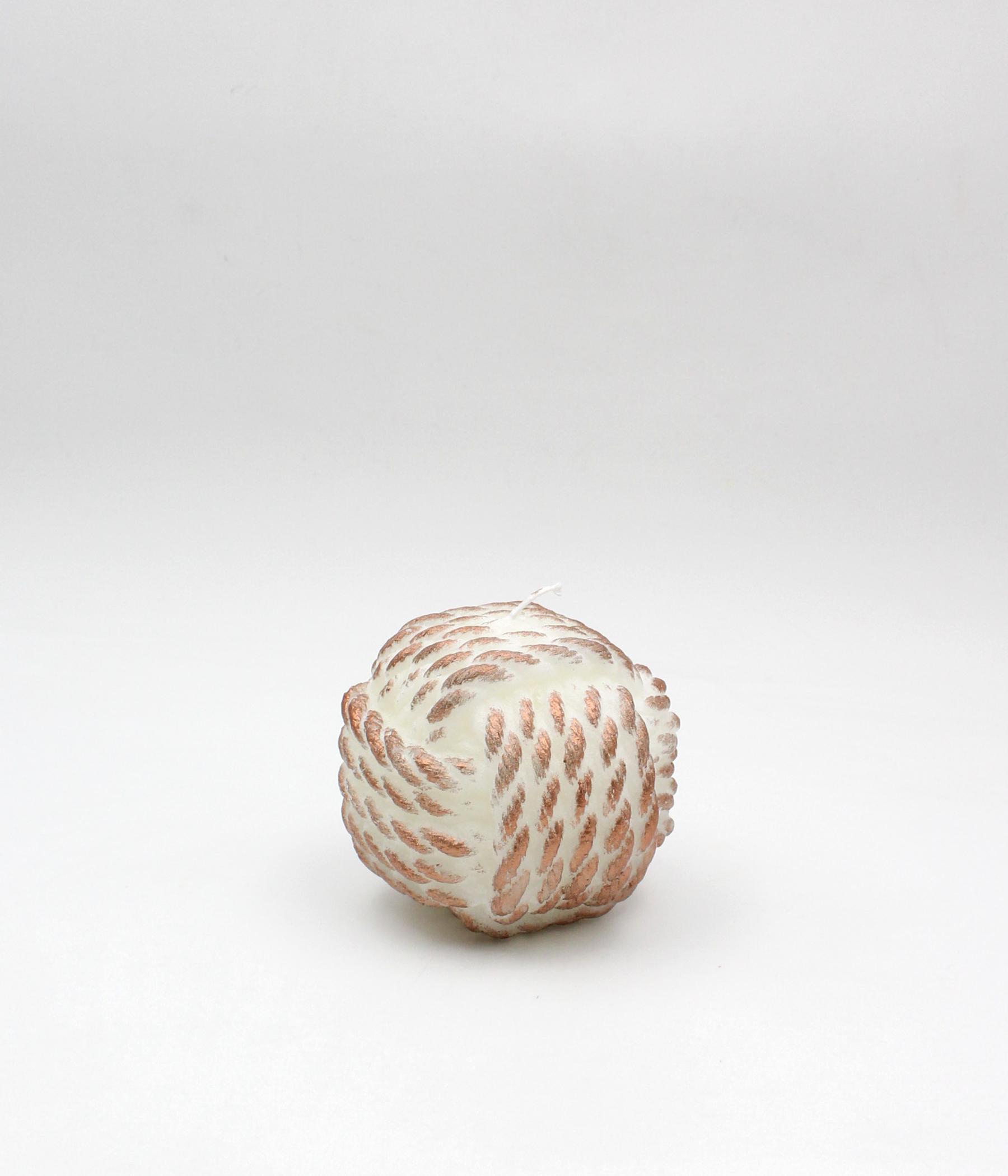 Candela corda sfera spugnata