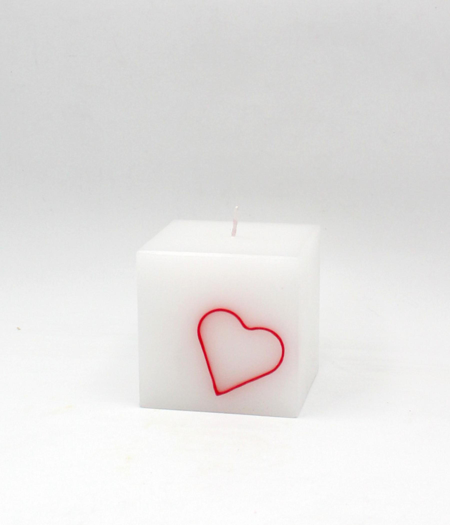 Candela cubo cuore