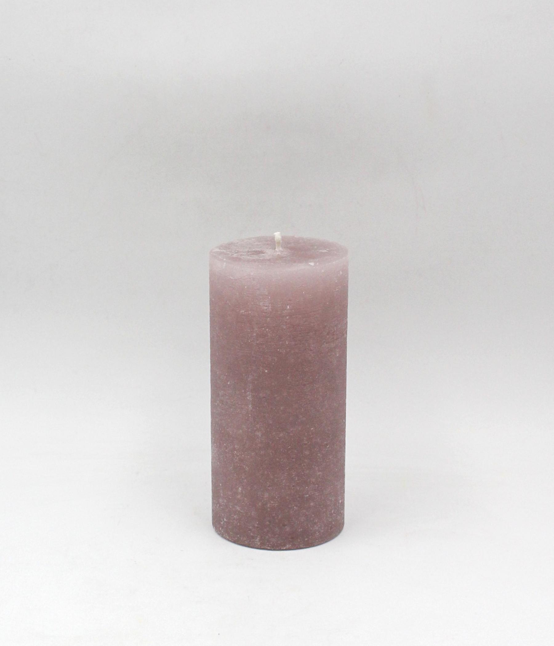 Marmorizzata candela cilindrica rustica