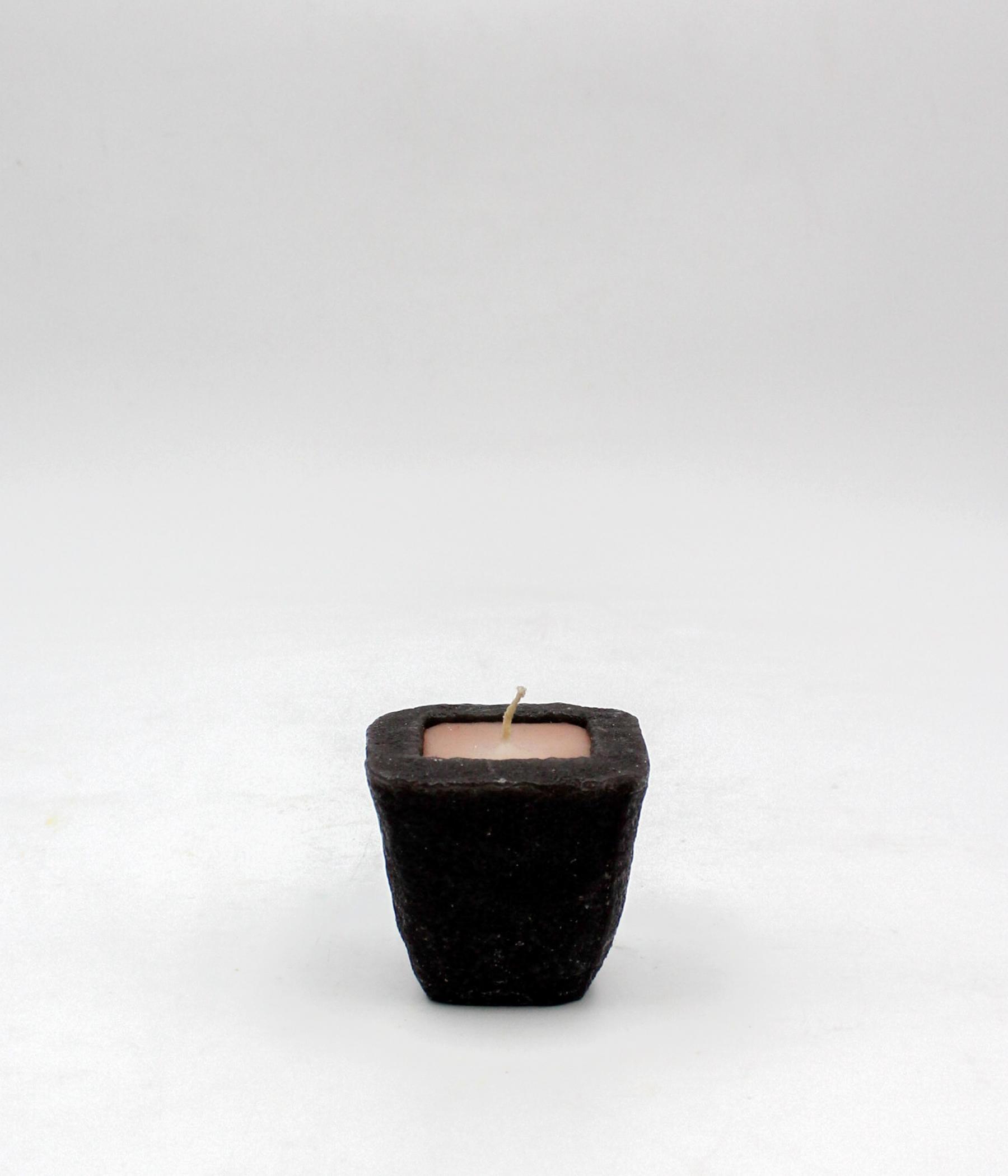 Terracotta candela vasetto