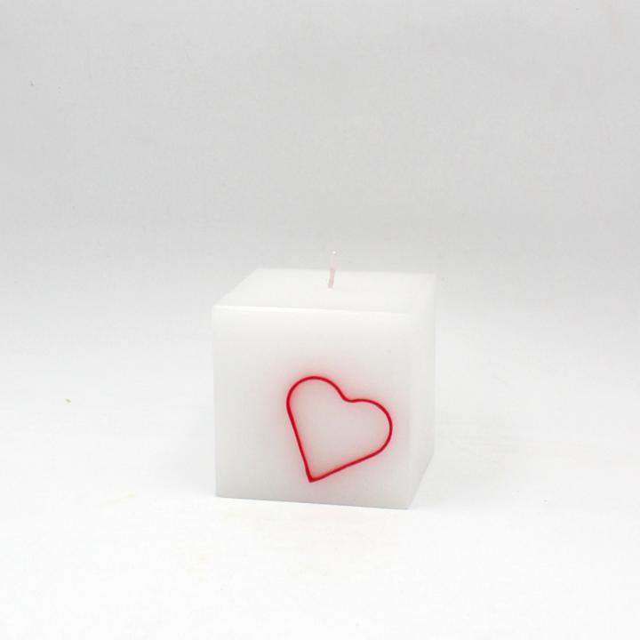 Candela cubo cuore