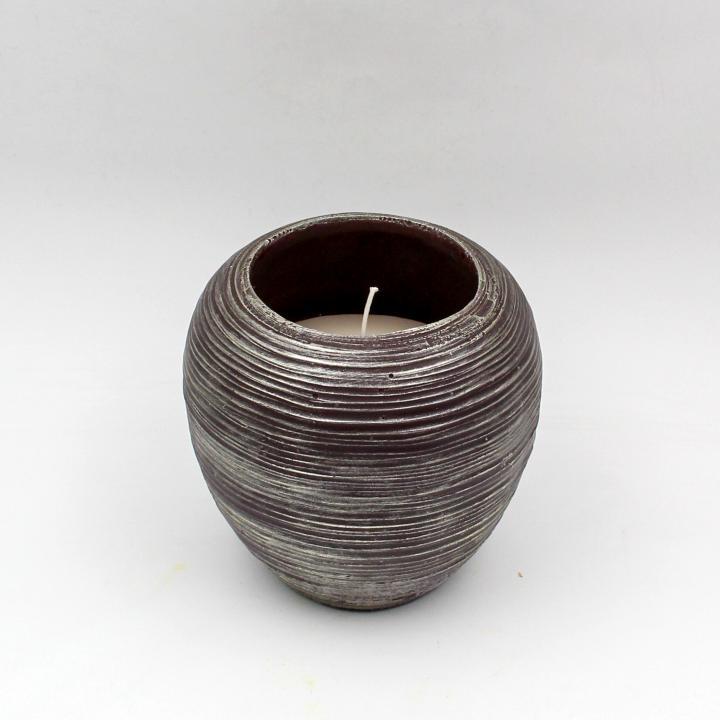Candela vaso spugnato