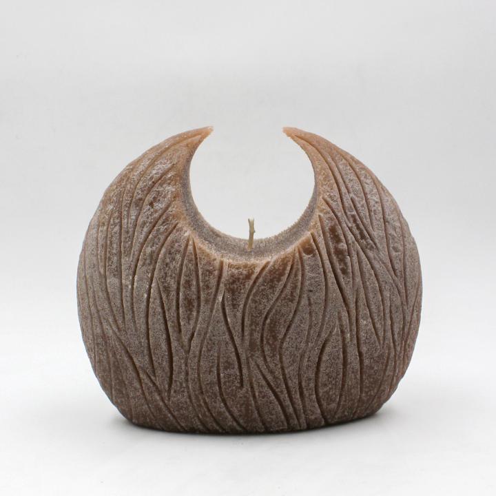 Wood candela cerchio