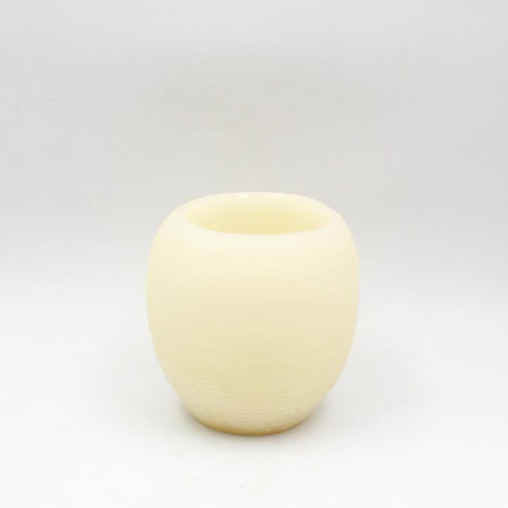 Candela vaso modellato
