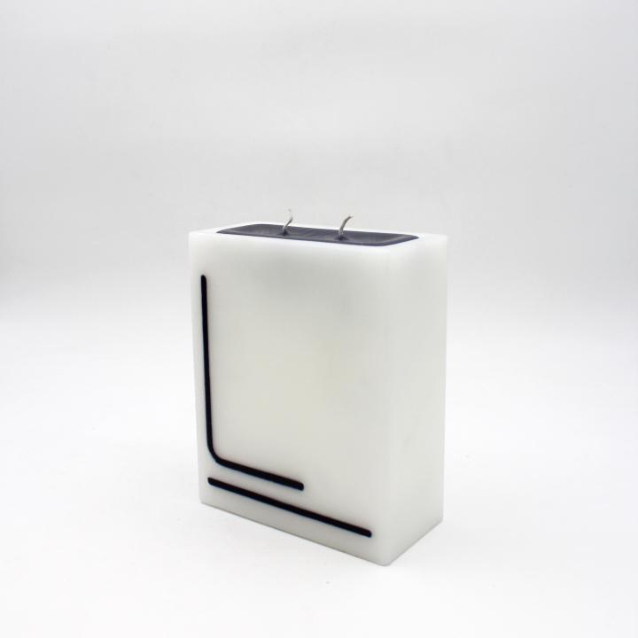 B&W candela rettangolo angoli