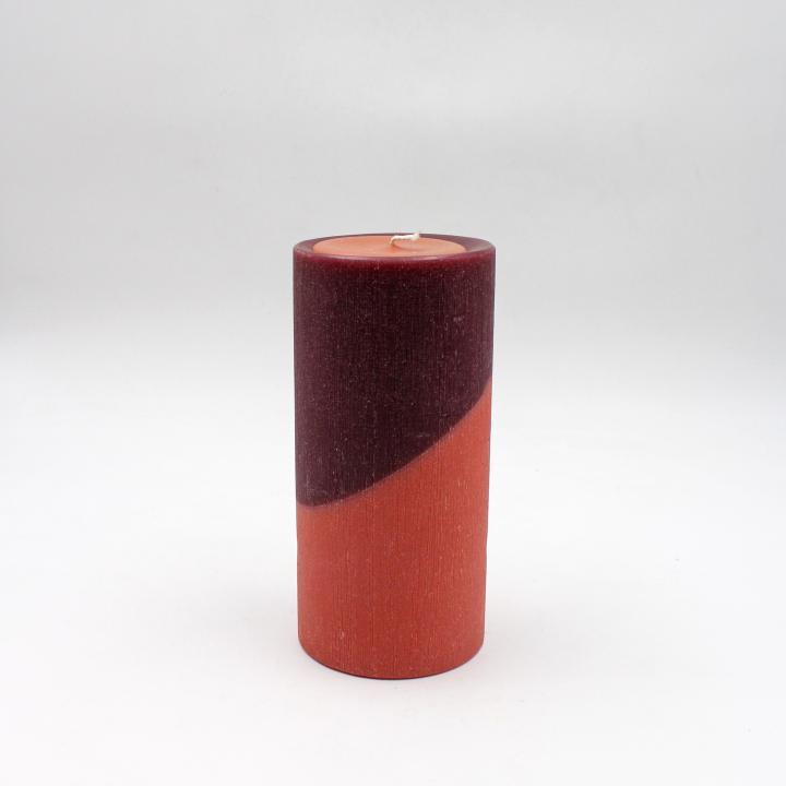Bicolore candela cilindro