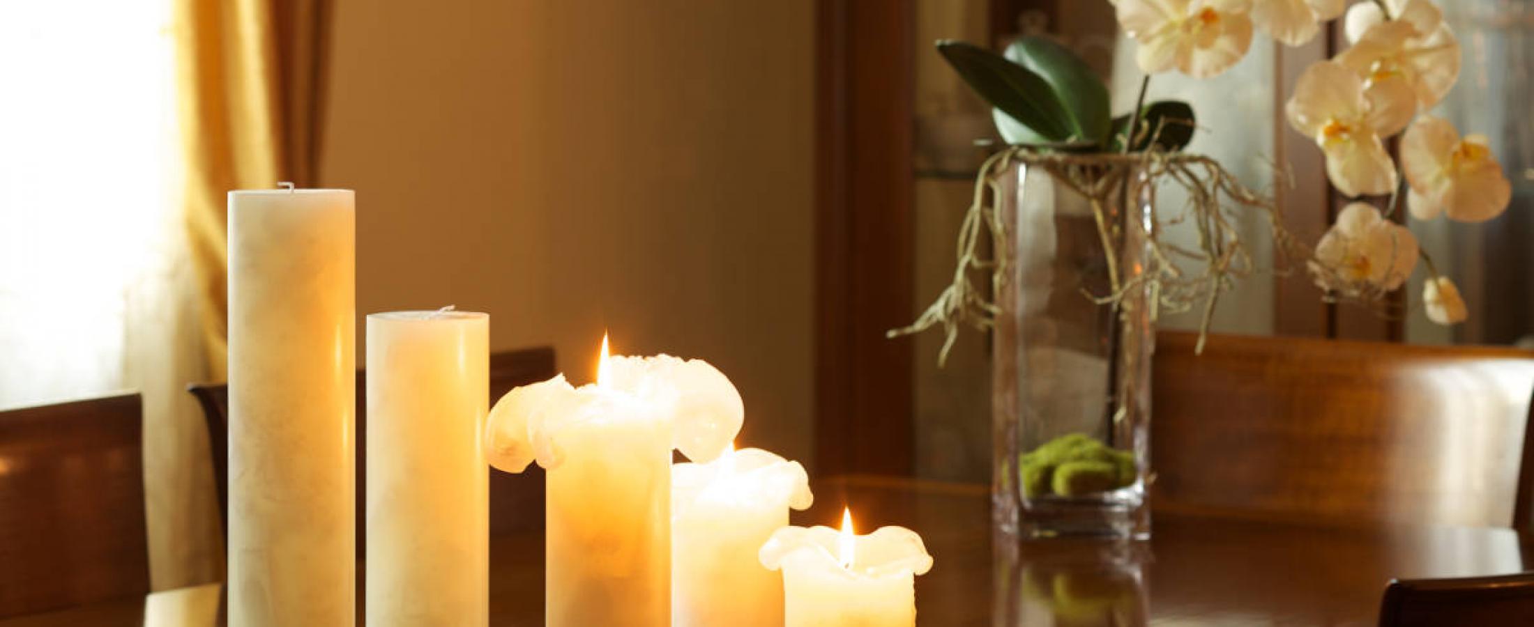candele eleganti ambientata cereria